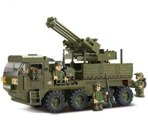 306pcs Army Anti-Aircraft Military Vehicle Legoed Building Blocks Toys Model Set