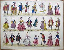 Imagerie populaire, Gangel, Metz, costumes de théâtre, Ciel et Enfer
