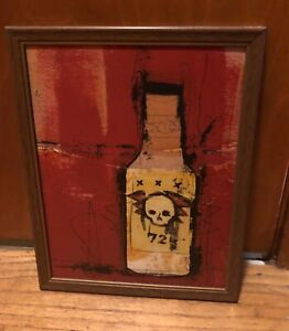 """BASK Art Original RARE Hand Painted """"Bottle #72"""" from 2009 exhibition"""