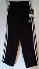 ADIDAS BLACK NYLON ATHLETIC PANTS *NWT* BOYS SIZE 7