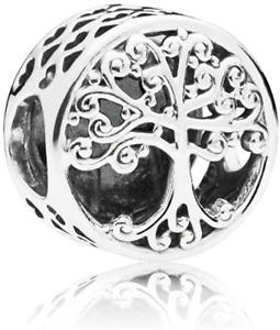 Ciondolo Charm Albero della Famiglia,per bracciali Pandora,Oro 18 ct