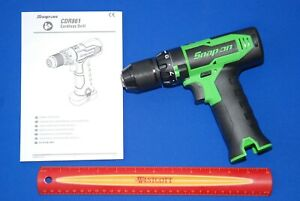 """NEWEST Snap-on 14.4 V Green 3/8""""  BRUSHLESS Keyless Chuck Drill (Tool Only)"""