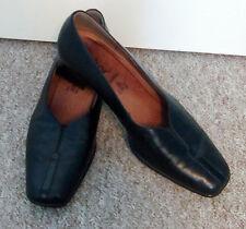 Gabor Ladies Black Leather Low Heel Court Shoes Smart Work UK Size 5