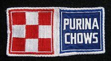 "PURINA CHOW EMBROIDERED SEW ON PATCH FLAG FEED ANIMAL FOOD PET UNIFORM 6"" x 3"""