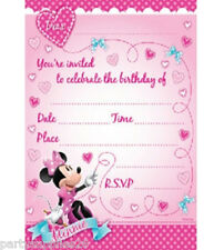 MINNIE MOUSE PARTY SUPPLIES  INVITES INVITATIONS PARTY PACK OF 8