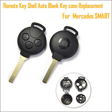 3 Buttons Remote Key Case for Mercedes SMART Fortwo Auto Blank Fob Shell,No Chip