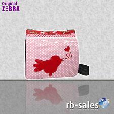 """ZEBRA Trends - Tasche  Handtasche """"Canvas"""" roze vogel"""
