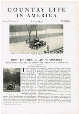 1904 How To Tour In An Automobile 6 Page Magazine Article Advertisment Ad