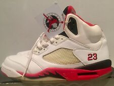 08058741fff747 Authentic Nike Air Jordan 5 V Retro white fire red 2006 rare vintage size 10