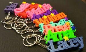 Personalised Name Keyring, School Bag, Name Tag, Pencil Case, Stocking filler