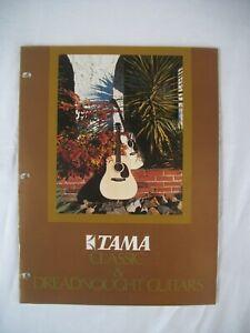 RARE Vintage TAMA Classic & dreadnought Guitars CATALOG 1976