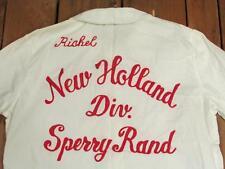 VINTAGE 1950s New Holland Sperry RAND Blanco Bolos Equipo Camisa Blusa rishel