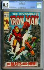 IRON MAN #16 CGC 8.5 OW/WH PAGES // SILVER AGE FRANK GIACOIA COVER ART