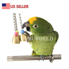 Lightweight Galvanized Steel Bell for Birds Cockatiels Hanging Bird Cage Toy Us