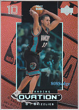 1999-00 UPPER DECK STANDING OVATION #58: MIKE BIBBY #43/50 GRIZZLIES/WILDCATS