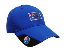 SoftMark Golf Cap - Blue - Australia by Asbri Golf with Ball Marker magnetic