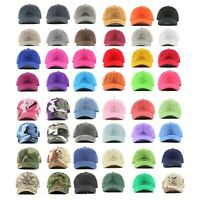 Polo Style 100% Cotton Baseball Cap Ball Dad Hat Adjustable Plain Solid Washed