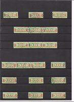 DDR 1959, Michelnummern Dienstmarken B aus 31 o, Einzelmarken o, gestempelt o