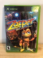 ZAPPER One Wicked Cricket Xbox Video Game Complete FREE SHIPPING Clean