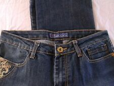 Womens BACCINI Boot Cut Denim Jean Pant Size 6 Embroider Embellished Stretch G16