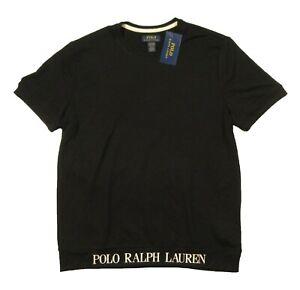 Polo Ralph Lauren Men's Black Logo Crew-Neck Short Sleeve Lounge T-Shirt