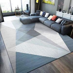 4m Extra Large Mist Luxury Blue Modern Rug Carpet Mat (200 x 400cm)