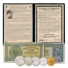 World Bad Guys Italy Benito Mussolini Coin & Currency Set 5 Coins & 2 Banknotes