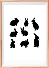 Rabbits Easter Mylar Reusable Stencil Airbrush Painting Art Craft DIY Home