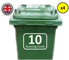 4x WHEELIE BIN NUMBERS CUSTOM HOUSE NUMBER & STREET VINYL GRAPHIC STICKER DECAL