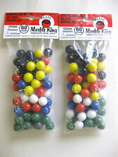 2 sets 60 Chinese Checker Marbles Game Replacement Glass Marble Wahoo Aggravtion