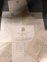 Lot de 6 Certificat de Reliquaire Croix Sainte Ancien Reliquary Vatican Christ