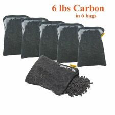 Activated Charcoal Carbon in 6 Mesh Bags Aquarium Pond Canister Filter 6 LBS
