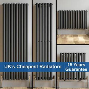 Horizontal Vertical Oval Column Designer Radiator Central Heating Rad Anthracite
