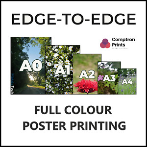 Personalised Custom Colour Printing Matt Poster  | A4 A3 | UK 260 gsm