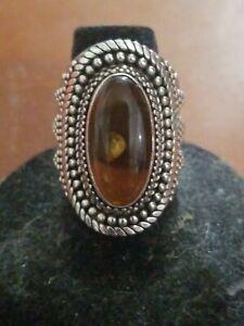 Sterling Amber Ring Ba