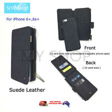Faux Suede Flip Over Phone Case, Wallet, Card Holders for iPhone 6 plus 6s Plus