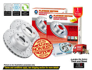 For AUDI A4 B8 [PR:1LT,1LY with ATE cal] 314mm FRONT Slotted Drilled Rotor & Pad
