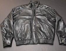 Vintage Bf Goodrich Tires Faux Leather Jacket Coat Sz Xl Black Lined G-Force Ta