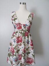 Papaya White Floral Peekaboo V-Neck Sleeveless Summer Dress NWOT SZ: S