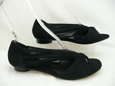 Fendi Black Suede and Chiffon Cinderella Ballet Flats Sz 41 / 11