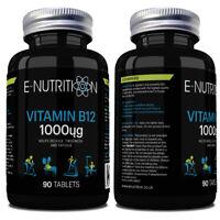 VITAMIN B12 1000mcg TABLETS VEGAN | HIGH STRENGTH CYONOCOBALAMIN | HIGH QUALITY