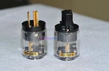 NEW 1 Pair C-029 IEC Connector + P-029 US Power Plug for Audio Transparent
