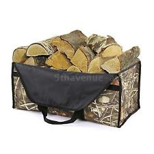 Portable Fireplace Firewood Fire Wood Log Cloth Tote Bag Carrier Holder W7t9