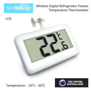 Digital Fridge / Freezer Thermometer -- Waterproof, LCD, Wireless & Hanging Hook