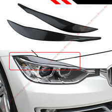 REAL CARBON FIBER HEADLIGHT EYEBROW EYELID COVERS FOR 2012-18 BMW F30 3-SERIES