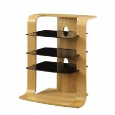 Jual Furnishings JF204 Entertainment Unit / Stereo / HiFi Stand in Curved Oak
