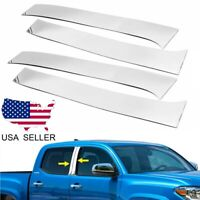 For 2016-2019 Toyota Tacoma Double Crew Cab Stainless Steel Chrome Pillar Post