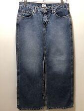 Vintage Calvin Klein midi front slit denim jean skirt Womens Size 7 80/90s