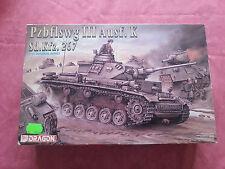 Maquette Neuve DRAGON 1/35 CHAR Pzbfslwg III Ausf.K