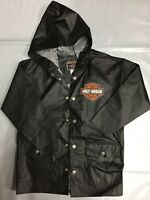 Harley Davidson Motorcycles Born To Ride Black Raincoat Size 8 (Children Size)